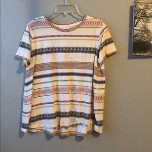Zara tribal print shirt